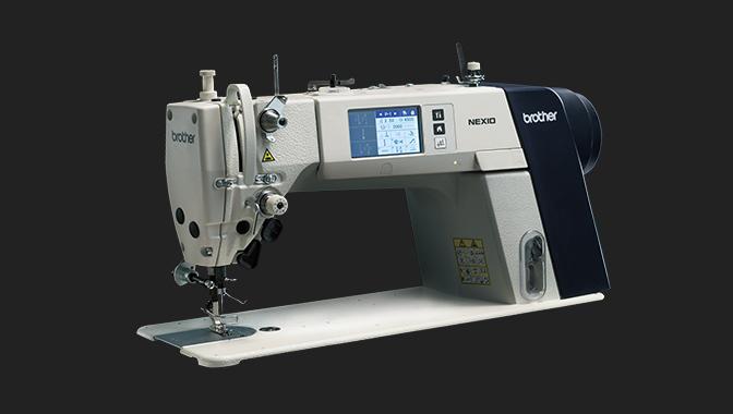 Single Needle Direct Drive Lock Stitcher with Electronic Feeding System and Thread Trimmer